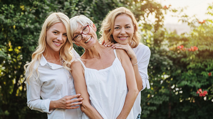 Mother and Daughters - Benefits to Residents of Senior Living Communities During COVID-19