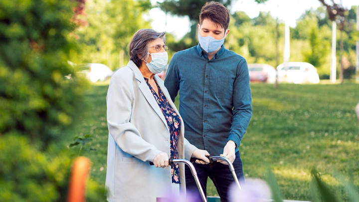 Grandma with Grandson - Senior Living Communities are Open and Safe